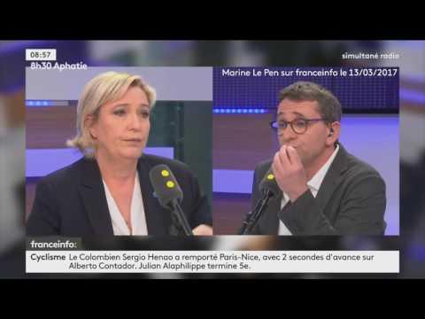 """Marine Le Pen nie être derrière le faux compte Twitter """"Anne Lalanne"""""""