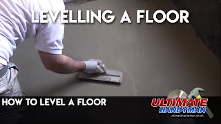 How to level a floor