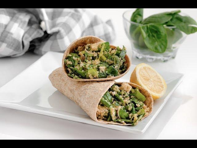 Burrito de Quinoa y Kale - Andrea Zambrana - Goya fit