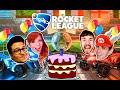 ANIVERSÁRIO DO CONTROLE 2 - Rocket League - Damiani e Satty vs Leon e Edu