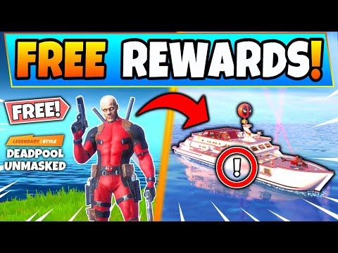 SECRET FREE REWARDS In The NEW DEADPOOL EVENT! Fortnite Yacht & Week 8 News In Battle Royale