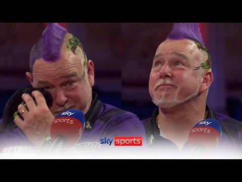 Peter Wright gets emotional after reaching the World Matchplay final!