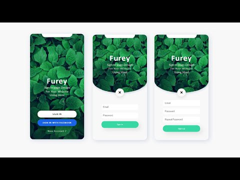 How To Create Login & Registration Form Using HTML & CSS & JavaScript | Animated Login Form HTML