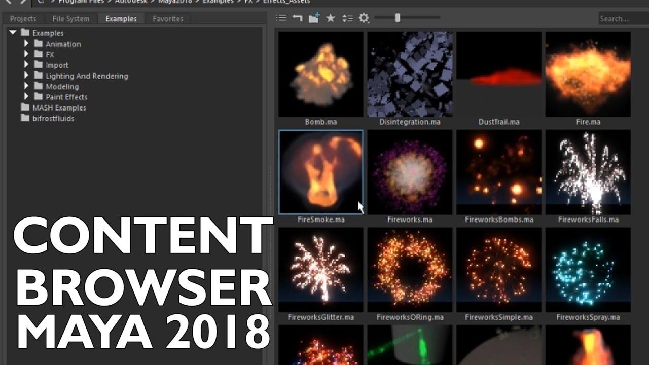 #maya #modeling Autodesk Maya 2018 - Melhore seus projetos usando esse  recurso - Content Browser