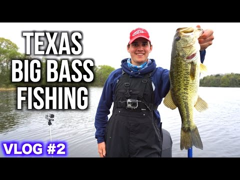Texas Spring Big Bass Fishing Day 2 VLOG ft. OpTic HECZ and LunkersTV