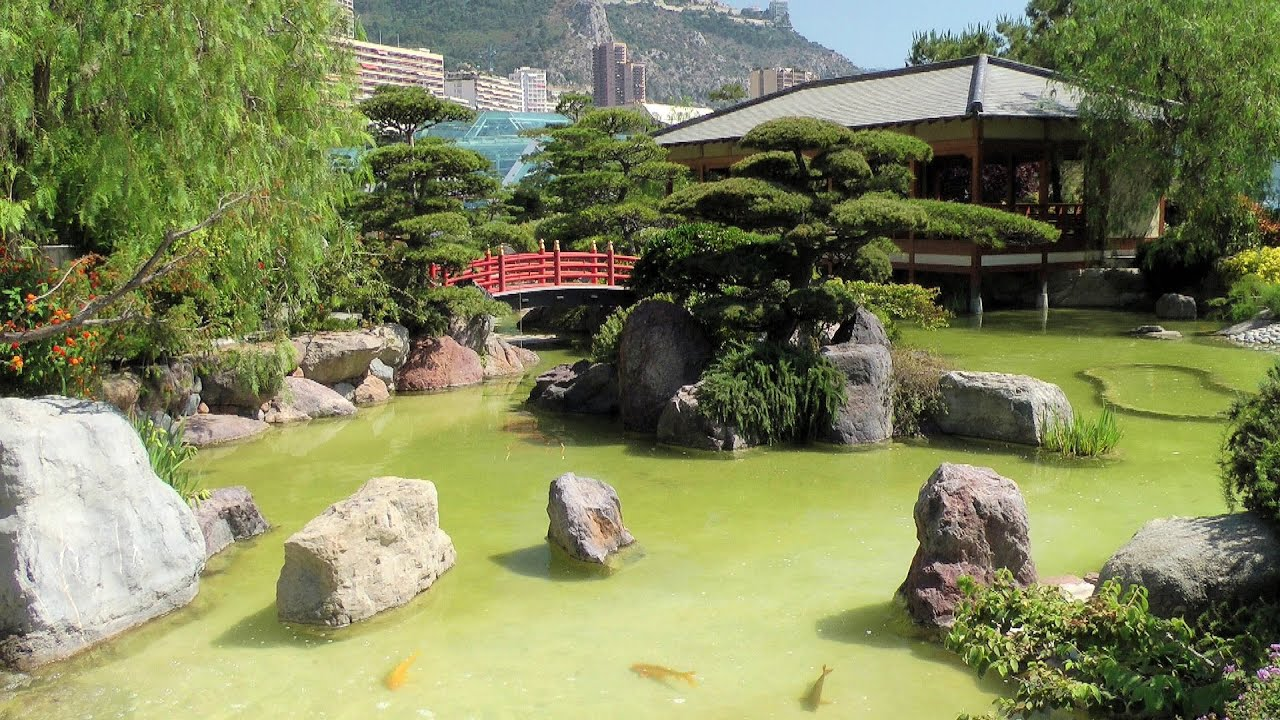 Monaco Japanese Garden Jardin Japonais [HD] videoturysta