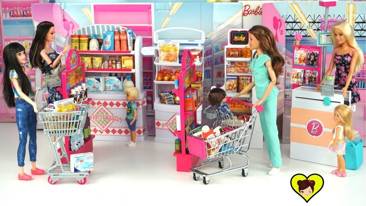 Supermercado De Juguete Con Accesorios Miniatura Para