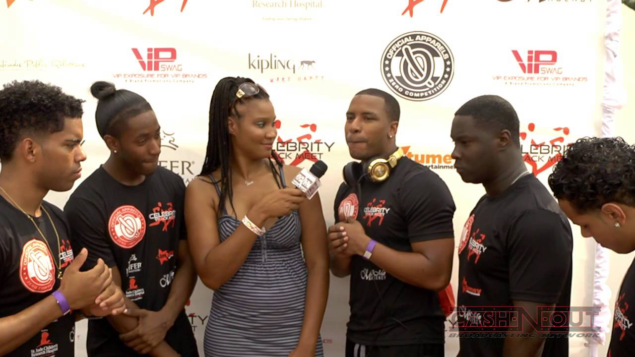 celebrity trackmeet red carpet with rampb group final draft