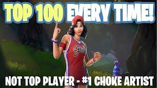 Fortnite Battle Royale - Not Top Player - #1 Choke Artist - Family Friendly (Xbox One)