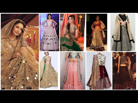 easy mirror work design on blouse / lehenga choli / Kurt's / chudidar neckline || mirror work ideas