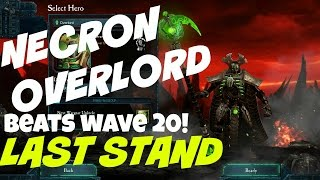 Necron Overlord's Last Stand beats wave 20
