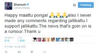 Dhanush says I am Not a brand ambassador of PETA, I support Jallikattu