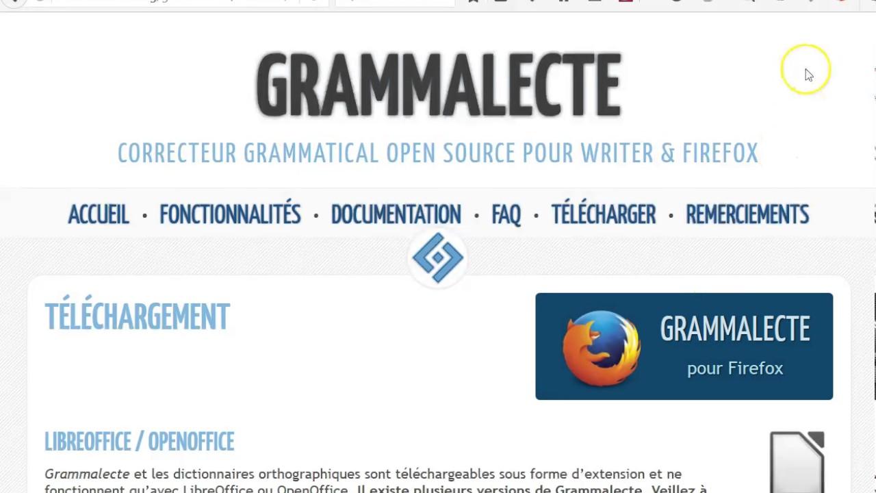 DORTHOGRAPHE ET OPEN FRANÇAIS CORRECTEUR GRAMMALECTE TÉLÉCHARGER OFFICE GRATUIT