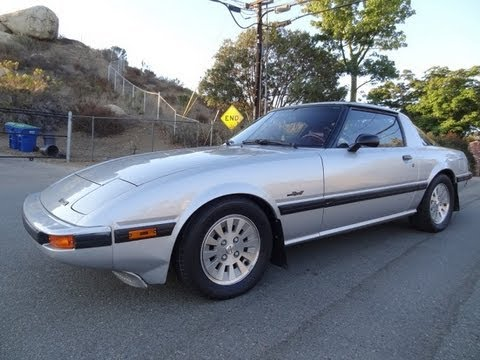 1984 Mazda RX7 GSLSE 5Speed Manual 13B Rotary Engine Start Up