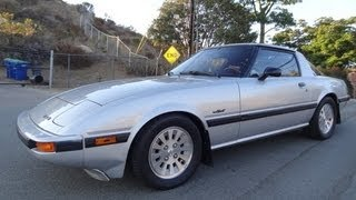 1984 Mazda RX-7 GSL-SE 5-Speed Manual 13B Rotary Engine Start Up & Test Drive COMPLETE  Video