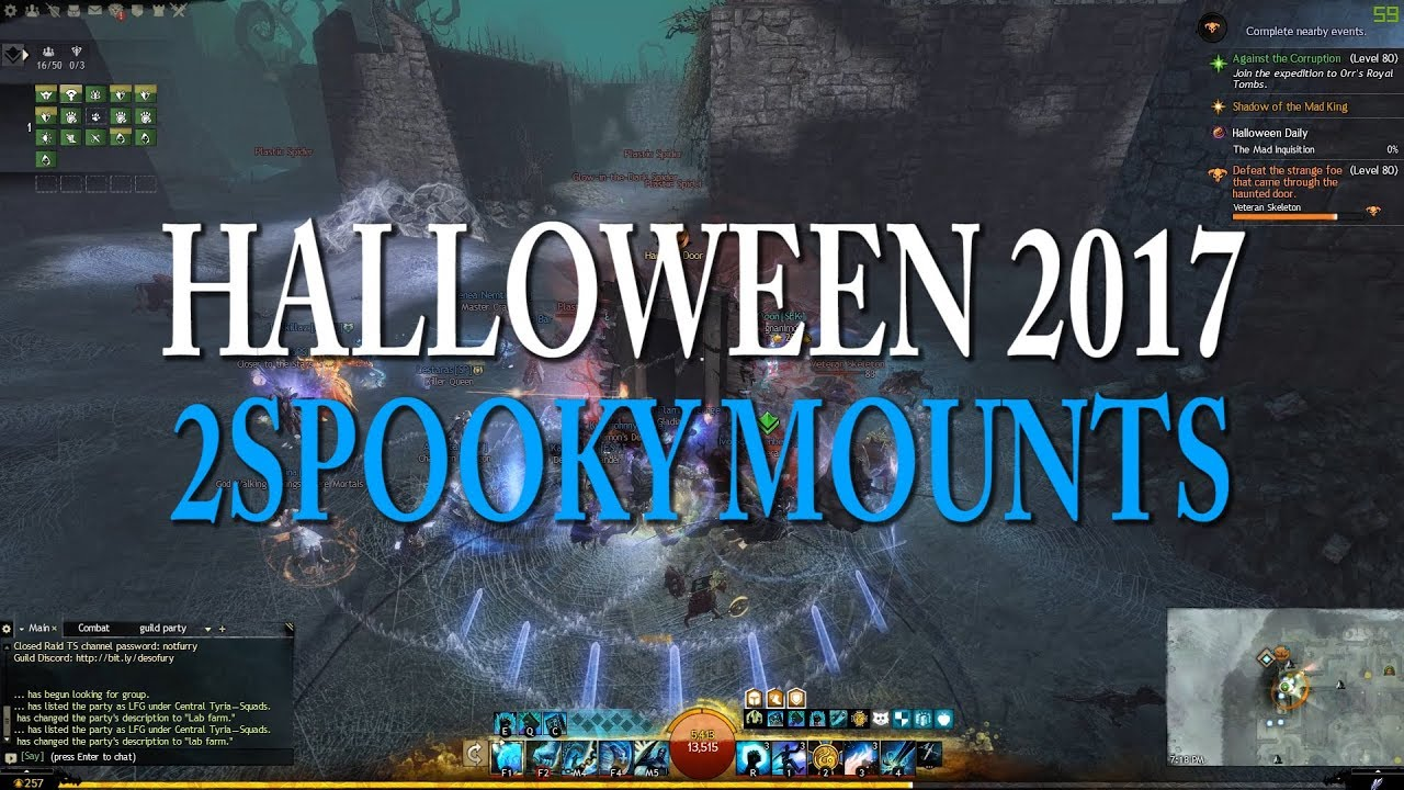GW2 Halloween 2017 New Mount + Armour Skins - YouTube
