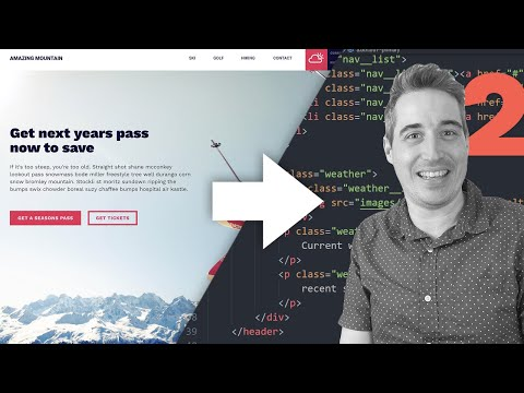 From Design To Code - HTML & CSS Tutorial [ Part Two ]
