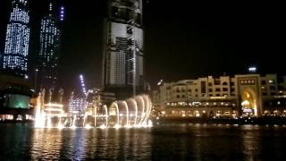 Fountain of Dubai very beautiful