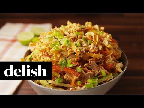 Chicken Peanut Noodles  Delish + No Yolks
