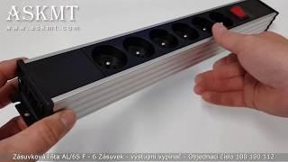 Zásuvková lišta AL/6S F - 6 Zásuvek - výstupní vypínač
