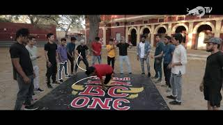 The Red Bull BC One All Stars celebrate breaking on the streets of India