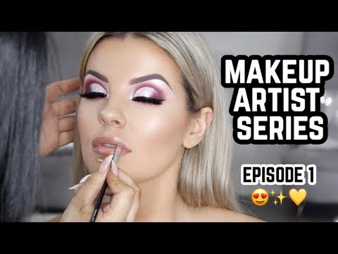 Makeup Artist Series Ep • 1 💄Burgundy Cut Crease Glam 😍Jasmine Hand