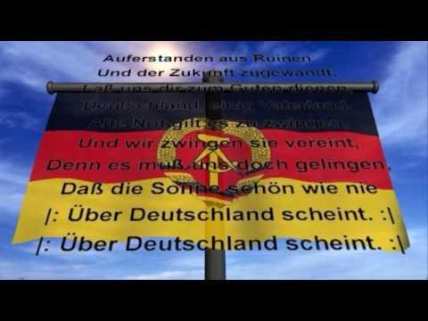 Nationalhymne Der Deutschen Demokratischen Republik Ddr Youtube