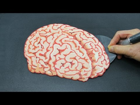Oddly Satisfying EDIBLE HUMAN BRAIN Pancake Video - Relaxing Your Mind with Food