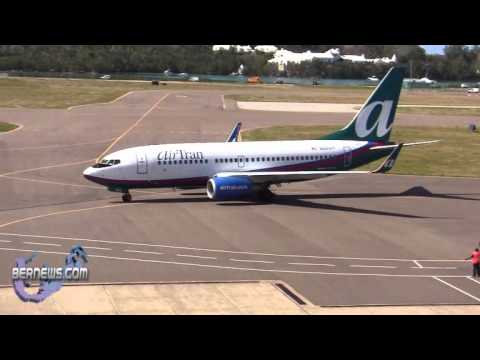 AirTran Airways Inaugural Flight Bermuda Airport April 7 2011