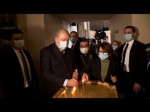 Հանրապետության նախագահ Արմեն Սարգսյանն այցելել է Վիրահայոց թեմի առաջնորդանիստ Սուրբ Գևորգ եկեղեցի