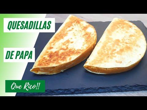 Quesadillas de Papas Crujientes | Tacos de papa con queso | Que Rico #16