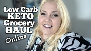 Online Grocery Food Haul and Supplements | Low Carb Keto Diet Foods Shopping