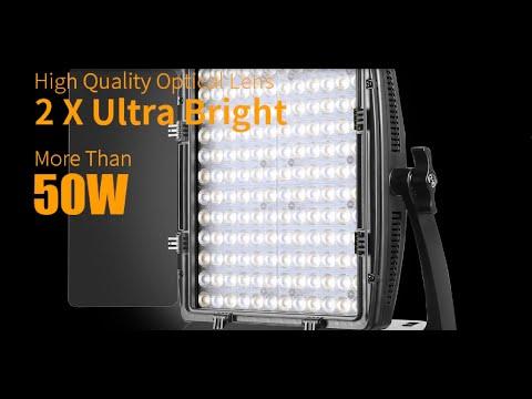 GVM LT 50S LED Video Lighting Panel  50W Bi-Color 2X Ultra Bright