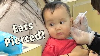 Twins get their Ears Pierced! - Dancember 04, 2014 - itsJudysLife Daily Vlog