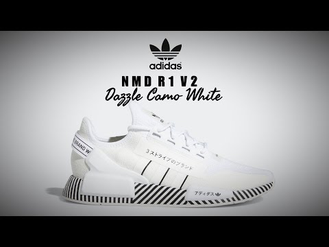 Adidas Nmd R1 V2 Dazzle Camo White Detailed Look Price Release