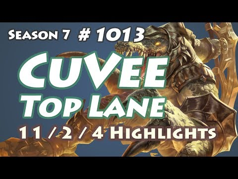 SSG CuVee - Renekton vs Jayce - KR LOL Highlights | 큐베 레넥톤