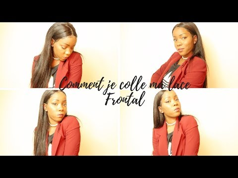 GRWM:  COMMENT JE COLLE MA LACE FRONTAL  CHIT CHAT