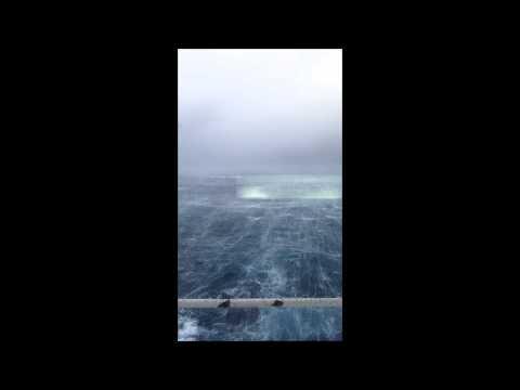 Hurricane passing FPSO Alvheim 10 january 2015