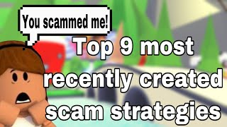Top 9 most RECENTLY created SCAMS in ADOPT ME! 😱 |GENIUS | how to AVOID scams! | roblox 2020
