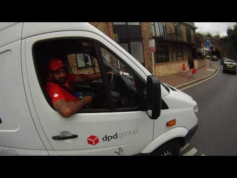 """DPD driver says """"shut up"""" when politely asked to not use phone whilst driving 20160715"""