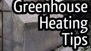 My tips and tricks to Heat a Greenhouse come Winter / Electric Heating and hot water heat sinks