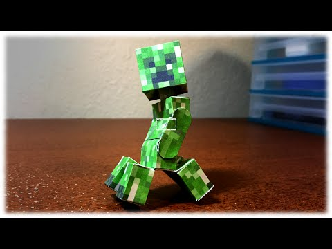 How To Make A Bendable Creeper (Minecraft Papercraft)