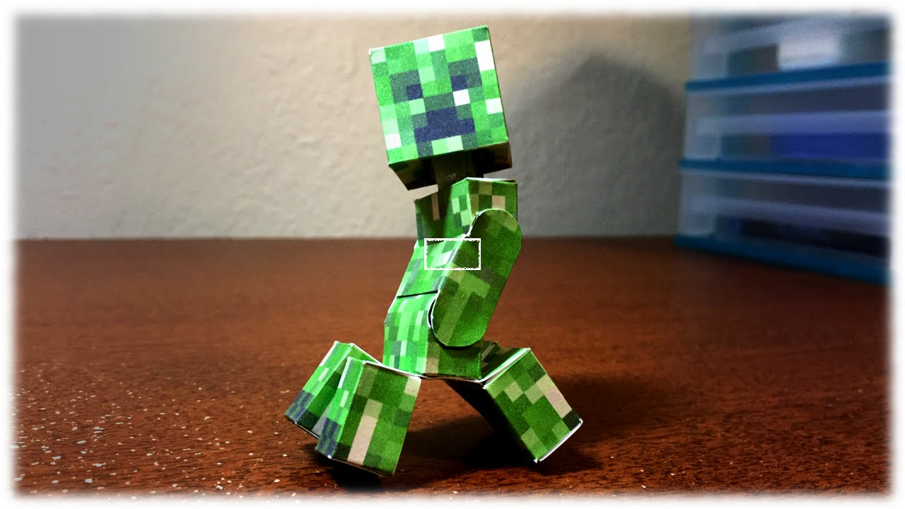 Papercraft How to make a Bendable Creeper (Minecraft Papercraft)