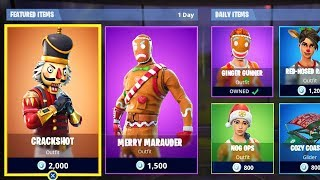 *NEW* CHRISTMAS SKINS in Fortnite! Fortnite Item Shop Update! (Fortnite Battle Royale)