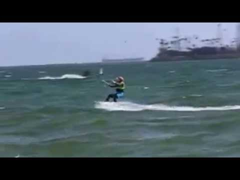 A video of me kitesurfing in California's choppy water. Credit Klaus Schulz