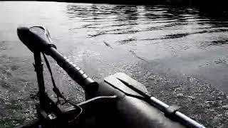 Minn kota 55lbs sur bateau gonflable  2m90 sur la seine 77