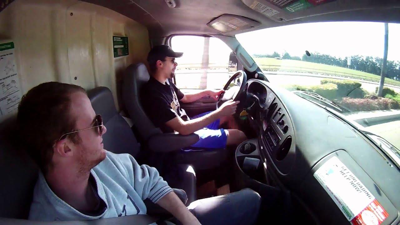 Driving the U HAUL Truck