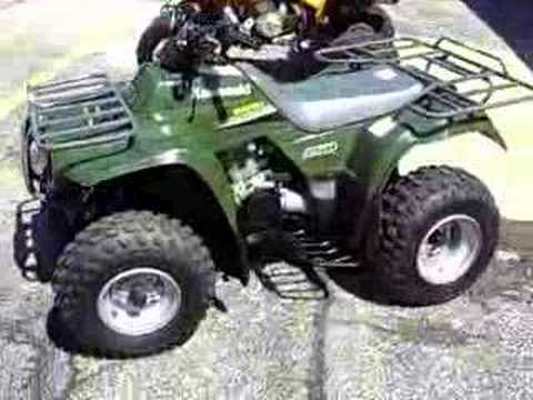 atv 4x4 kawasaki bayou four wheeler youtube. Black Bedroom Furniture Sets. Home Design Ideas