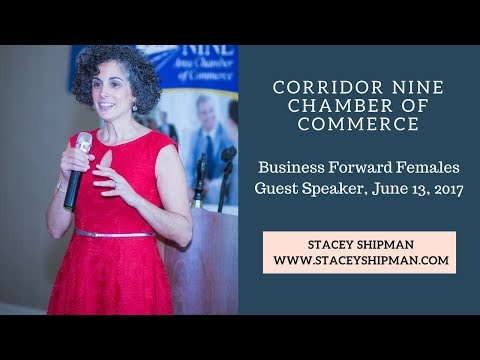 Stacey Shipman Speaking at the Corridor Nine Chamber of Commerce