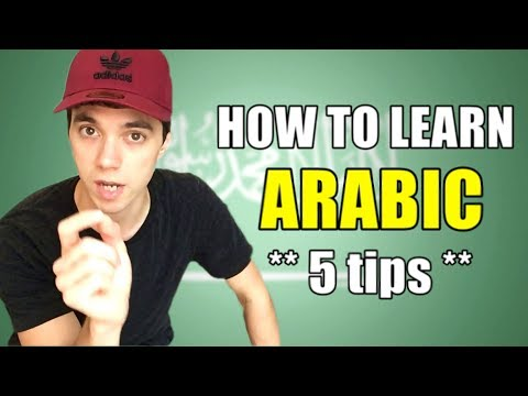 HOW TO LEARN ARABIC **5 tips**